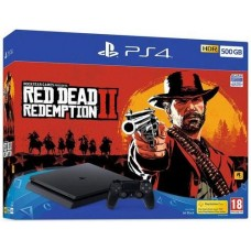 PlayStation 4 SLIM Bundle (500 Gb, Red Dead Redemption 2), 235425, Консоли
